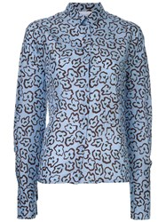 Christian Wijnants Loose Fit Printed Shirt Blue
