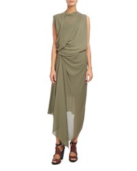 Atlein Draped Cowl Neck Midi Dress Sage