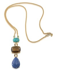 Carolee Stone Pendant Necklace 30 100 Exclusive Gold Multi