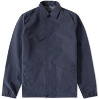 Uniform Experiment Numbered Tape Line Coach Jacket Blue