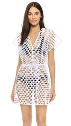 Milly Honeycomb Mesh Mauritius Cover Up White