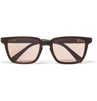 Brioni D Frame Tortoiseshell Acetate Sunglasses Brown
