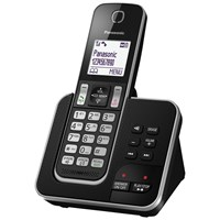Panasonic Kx Tgd320eb Digital Cordless Phone With Nuisance Call Control And Answering Machine Single Dect