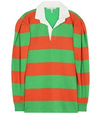 Marc Jacobs Oversized Cotton And Wool Blend Sweater Multicoloured