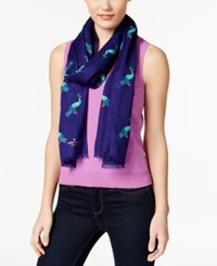 Kate Spade New York Peacock Scarf Blue