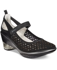 Jambu Women's Calypso Mary Jane Wedges Women's Shoes Black