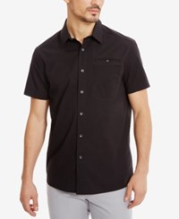 Kenneth Cole New York Men's Stretch Ripstop Shirt Black