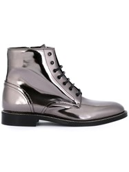 Dsquared2 Side Zip Detail Boots Metallic