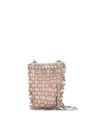 Paco Rabanne Puzzle Link Clutch Pink