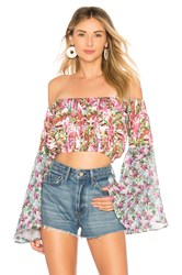 All Things Mochi Lenny Crop Top Pink
