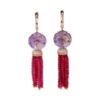 Bellus Domina Amare Rose Earrings Pink Purple