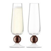 Lsa International Oro Champagne Flute Set Of 2 Copper