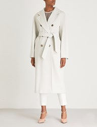 Max Mara Madame Double Breasted Wool And Cashmere Blend Coat Ice