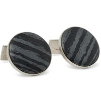 Foundwell Vintage Silver Marble Cufflinks Silver