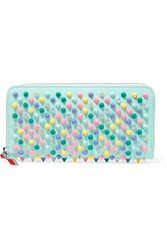 Christian Louboutin Panettone Spiked Leather Wallet Sky Blue