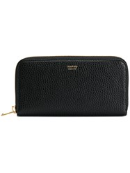 Tom Ford Logo Zipped Wallet Women Calf Leather One Size Black