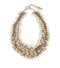Max Mara Weekend Dialogo Crystal Necklace Female Gold