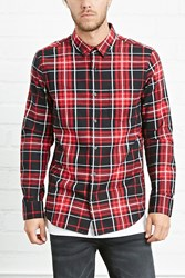 Forever 21 Plaid Flannel Pocket Shirt