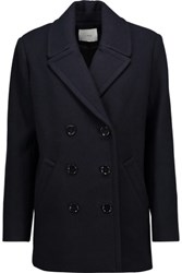 Iro Blayr Wool Blend Coat Midnight Blue