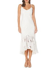 Laundry By Shelli Segal Venise Lace Cocktail Dress Optic White