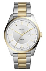 Fossil 'S Mathis Bracelet Watch 44Mm Gold Silver