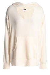 Lna Cutout Brushed Stretch Tencel Hoodie Cream