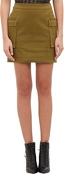 Balmain Cargo Mini Skirt Nude