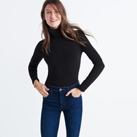 Madewell Instrumental Turtleneck Bodysuit True Black