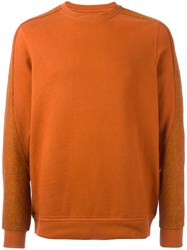 Mhi Maharishi Crew Neck Sweatshirt Yellow Orange