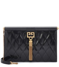 Givenchy Gem Medium Quilted Leather Clutch Black