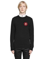 Alexander Mcqueen Embellished Patch On Cashmere Sweater
