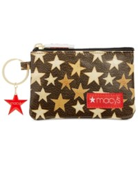 Macy's Coated Canvas Coin Purse Created For Black