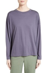 Vince Women's Pima Cotton Tee Plum