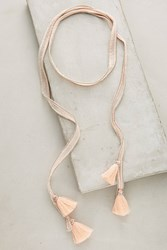 Anthropologie Tasseled Wrap Necklace Peach