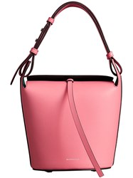 Burberry The Small Leather Bucket Bag Pink And Purple