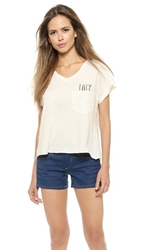 Wildfox Couture Love Pocket Tee Vintage Lace