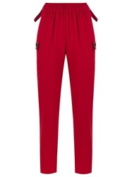 Reinaldo Lourenco High Waisted Trousers Red