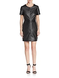 1.State Faux Leather Sheath Dress Rich Black