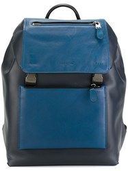 Coach Buckled Backpack Blue