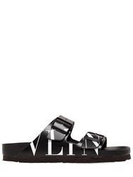 Valentino Garavani 30Mm Birkenstock Vltn Leather Sandals Black