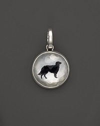 Ippolita Sterling Silver Dog Charm In White Shell And Black Onyx Bloomingdale's Exclusive Silver Black