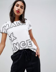 Armani Exchange All Over Logo T Shirt 1100 White
