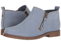 Hush Puppies Mazin Cayto Powder Blue Nubuck Women's Zip Boots