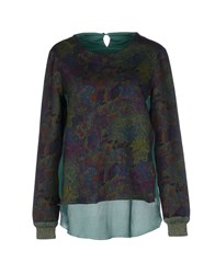 Roberto Collina Topwear Sweatshirts Women Dark Green