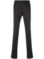 Salvatore Ferragamo Checked Trousers Men Cashmere Virgin Wool 50 Grey
