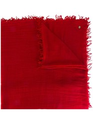 Ann Demeulemeester Blanche Frayed Edge Scarf Red