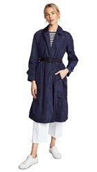 Add Down Nylon Pro Trench Coat Dark Navy