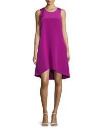 3.1 Phillip Lim Sleeveless Ruffle Trim Silk Shift Dress Magenta