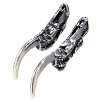 Eilisain Jewelry Crow Claw Earrings Silver