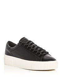 Kendall And Kylie Reese Lace Up Creeper Platform Sneakers Black